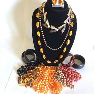 Halloween & Fall Colors Jewelry Lot Craft Supply